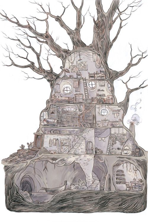 http://hchom.com/  marian churchland's illustrated representation of her apartment. Love it.