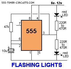 FLASHING RAILROAD LIGHTS Circuit
