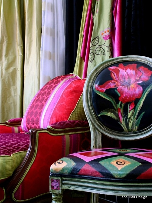 Chairs with gorgeous Pink patterns
