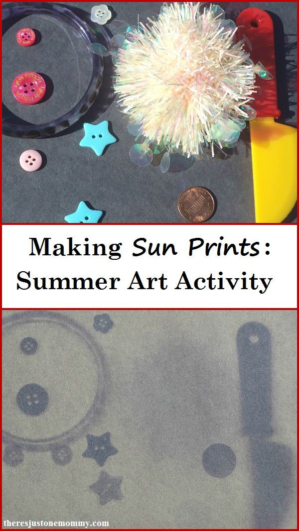How to Make Sun Prints -- simple summer science & summer art activity