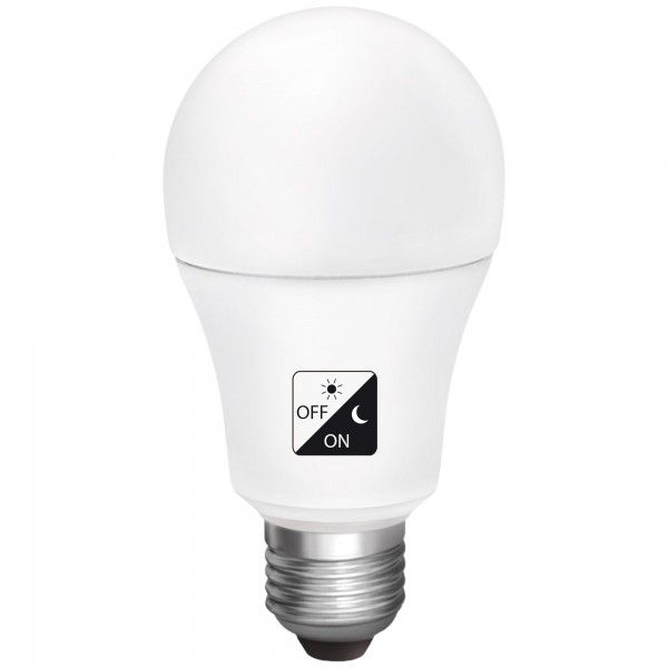 Bombilla Led Luz Estandar Sensor Crepuscular Casquillo E27 10w F Matel Led Bombillas Iluminacion