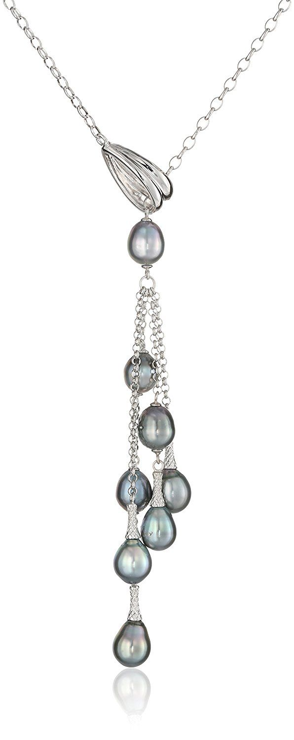 AmazonSmile: TARA Pearls Sterling Silver Natural Color Tahitian Pearl Necklace: Clothing