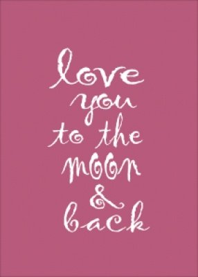 Room Decor Print....love you to the moon and back, In pink A4    #pink gifts #decor #typographic