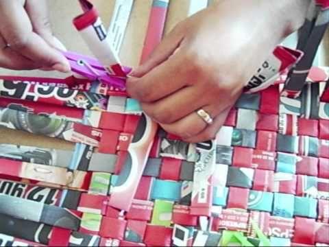 ▶ 8.RECICLAJE DE PAPEL.(CESTA O CAJA)-DIY BASKET MADE OF NEWSPAPER - YouTube