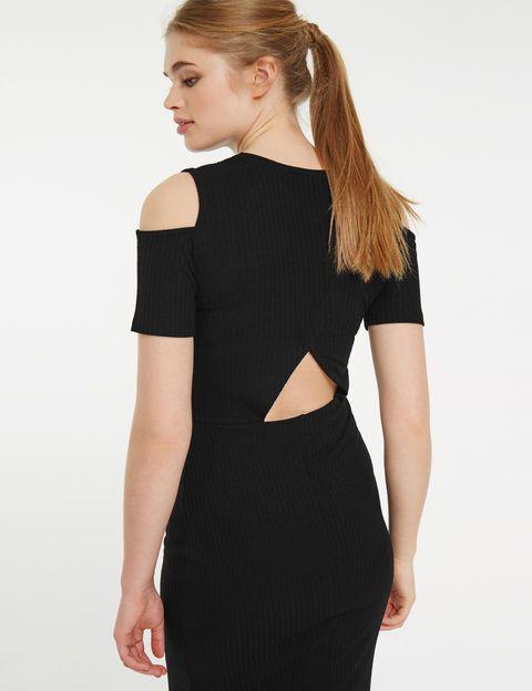 robe tube avec ouverture dos noire