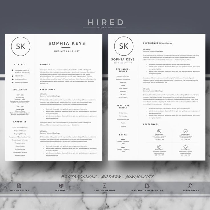 Professional u0026 Modern Resume Template for MS