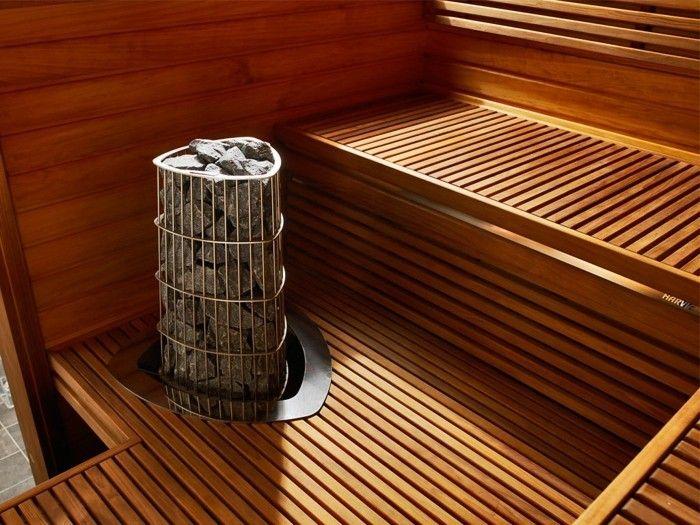 saunaofen steine sitzbänke holz sauna
