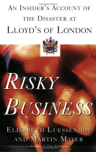 An expose of the corruption and incompetence that undermined Lloyd's of London, the world's most famous insurance agency, reveals how mismanagement cost the company 12 billion dollars in ten years and led to worldwide ramifications Tailor Your Weight Tailor Your WeightCovert Video... more details available at https://insurance-books.bestselleroutlets.com/business/product-review-for-risky-business-an-insiders-account-of-the-disaster-at-lloyds-of-london/
