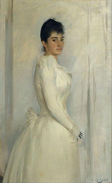 Portrait of Montserrat Carbó, 1888, by Ramon Casas i Carbó (Spanish, 1866-1932)
