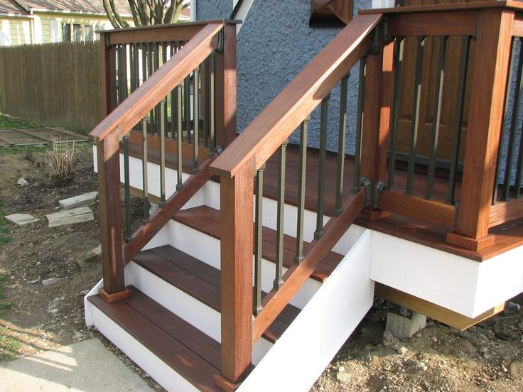 The 20 best images about concrete steps on pinterest for Concrete patio railing
