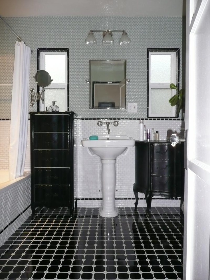 Another Beautiful Balck And White Bathroom Bouma Kellerman Design