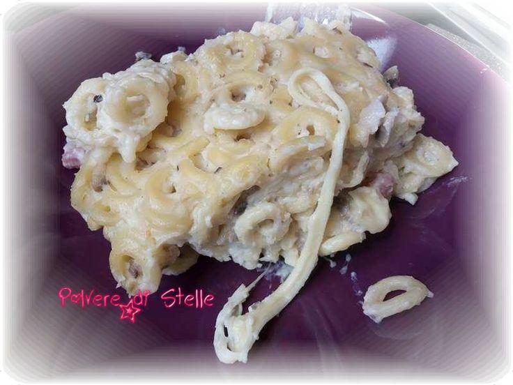 Anellini siciliani al forno ai funghi e pancetta