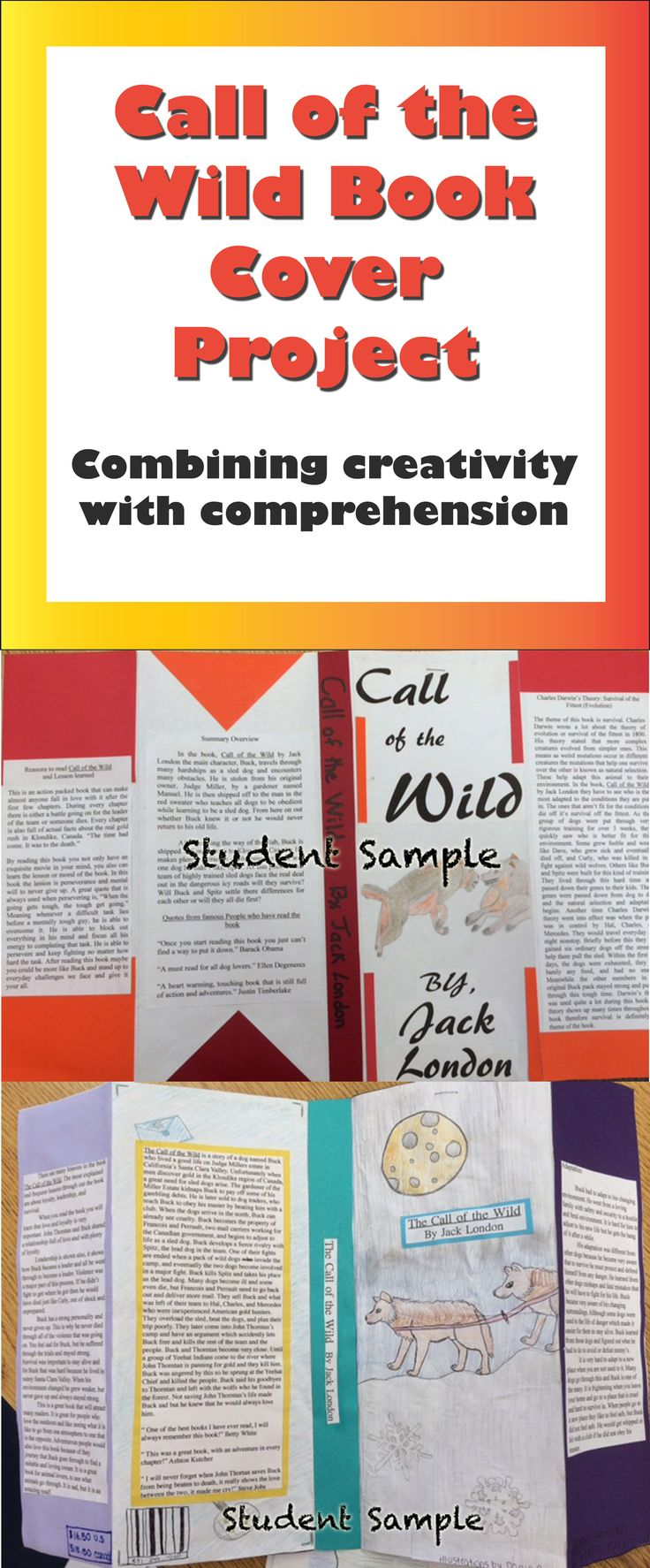 call of the wild book cover project  combining creativity with comprehension