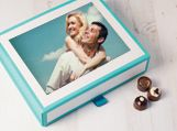 Personalised Chocolate Keepsake Photo Box, 60 Chocolates available at LilyOBriens.ie