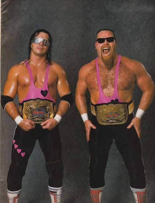 "The Hart Foundation referred to several teams or stables in the World Wrestling Federation (WWF), usually consisted of members or close friends of the Hart wrestling family from Canada.The original Hart Foundation (1985–1991) consisted of Jim ""The Anvil"" Neidhart and Bret ""The Hitman"" Hart, who were initially managed by Jimmy Hart (no relation) and won the WWF Tag Team Championship twice."