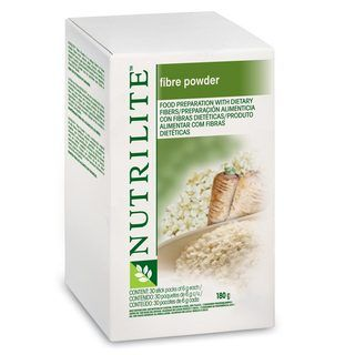 Fibre Powder -     A convenient way to attain additional fibre. Our NUTRILITE Fibre Powder is a unique blend of three soluble fibres from natural plant sources. Taste-free and a dry powder, it can be sprinkled onto foods or easily mixed into liquids.