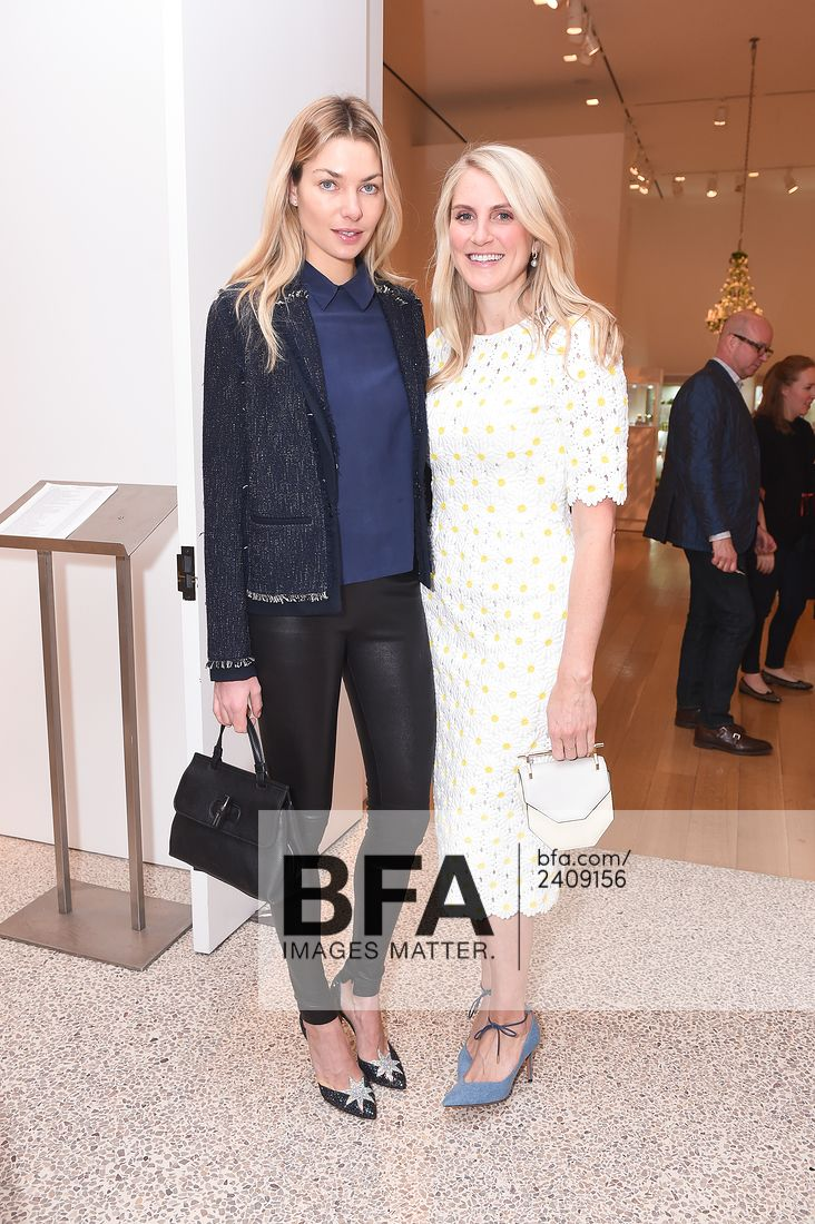 "Jessica Hart and Hayley Bloomingdale at the Betsy Bloomingdale ""A Life in Style Luncheon"" hosted by Hayley Bloomingdale & Jennifer Hall at Christie's in New York on April 4, 2017"