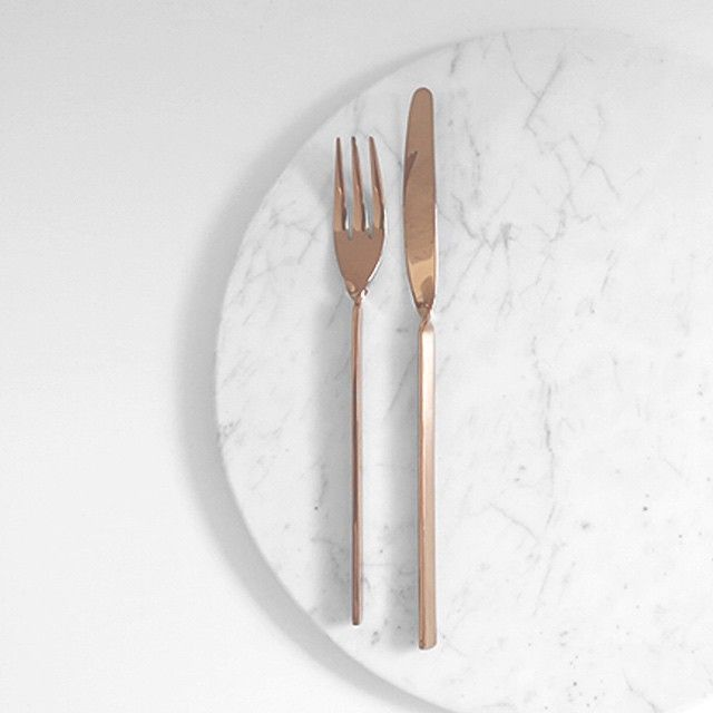 | Round Marble Basics trivets will be back this week! And what better pairing than our beautiful copper cutlery set. You can also follow us @theminimalisthome to see how I use everything in my home. x