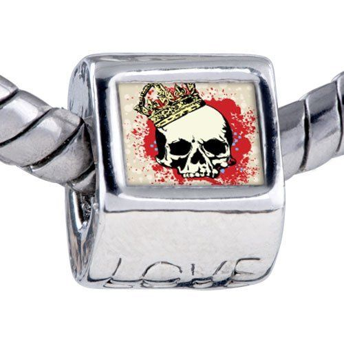 Pugster Bead Music Theme Halloween Skull Blood Photo Love European Charm Beads Fits Pandora Bracelet Pugster. $12.49. Fit Pandora, Biagi, and Chamilia Charm Bead Bracelets. Unthreaded European story bracelet design. Bracelet sold separately. Hole size is approximately 4.8 to 5mm. It's the photo on the love charm
