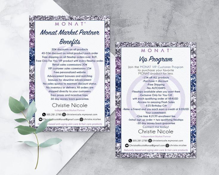 Monat Market Partner Benefits Monat Vip Program Card Monat