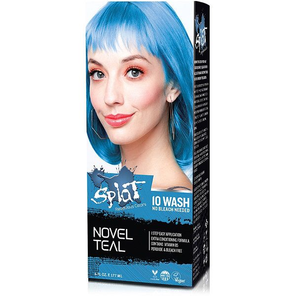 Splat 10 Wash No Bleach Hair Color Kit Bleach Hair Color Dyed
