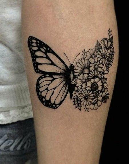Butterflower Butterfly Tattoo Foot Tattoos Simple Butterfly Tattoo