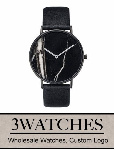 Thehorse Wholesale Watches. Custom Logo. Black Stone / Black Leather. Visiting: http://www.3watches.com/horse-watch/