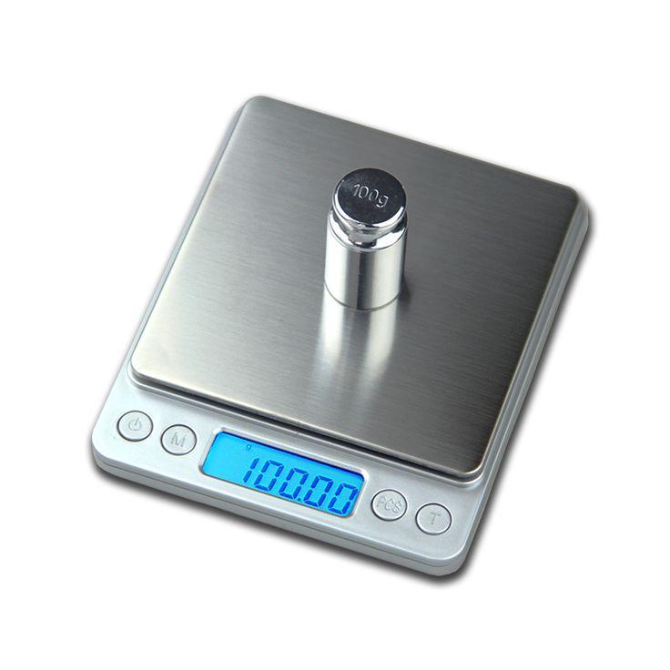 500g x 0.01g Portátil Mini escala Electrónica Digital Escalas de Bolsillo Caja de la Cocina Postal Peso de La Joyería Escala Balanca Digital