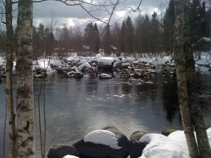 Hartola, Finland. The river next to the house.
