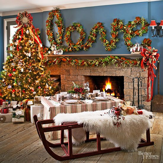 Wall Colour Inspiration: Pretty Christmas Living Rooms