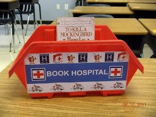 This website has great ideas for organizing your classroom, but I found the book hospital to be very interesting and different. Instead of wasting a lot of time with complaints about books being torn students just put the books in the book hospital for the teacher to fix later.