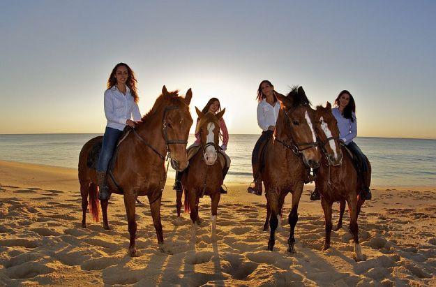 Cavalos  na areia, Comporta Portugal