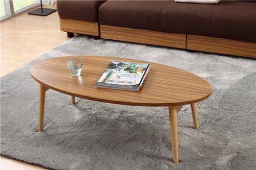 Modern Wood TV Center Sofa Table Folding Legs Living Room