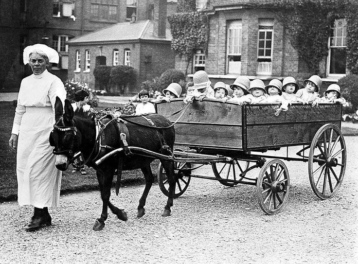 The 18-seater pram, Park Royal Hospital, London, 1925.