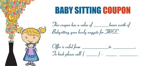 babysitting coupon