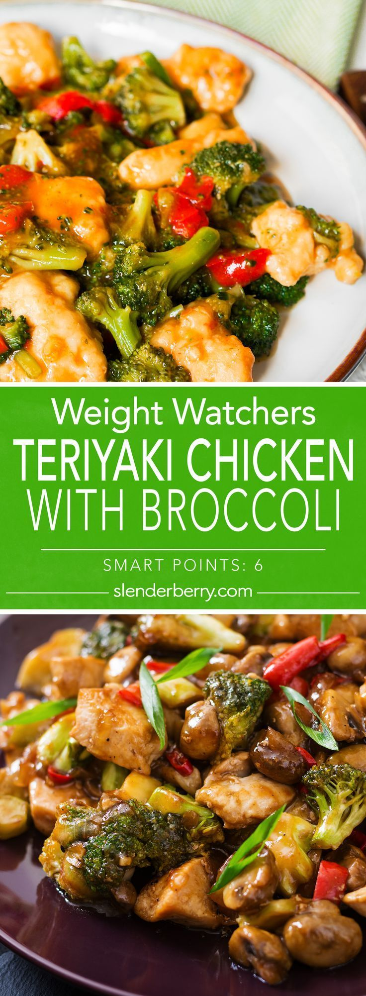 Weight Watchers Teriyaki Chicken with Broccoli Recipe with garlic, onion, chicke…