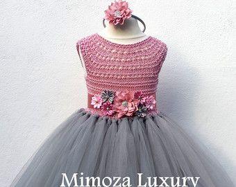 Flower girl dress tutu dress bridesmaid dress by MimozaLuxury