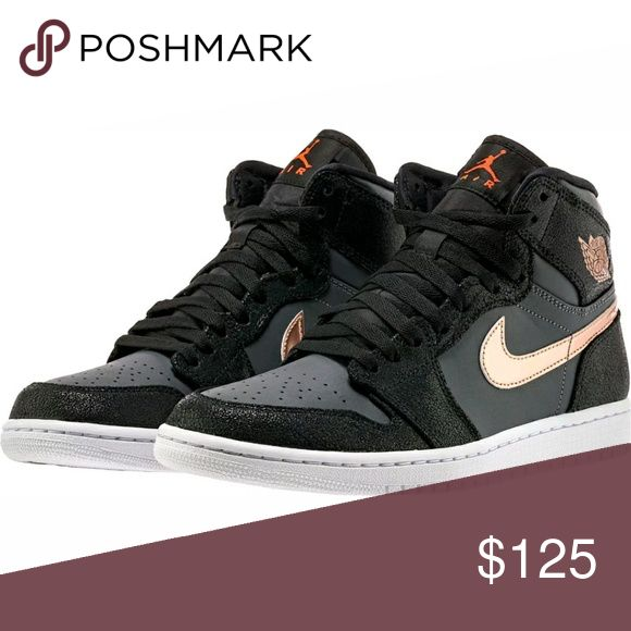 Nike Air Jordan Retro 1 High OG Condition: New In Original Box!  Nike Air Jordan Retro 1 High OG  Style #:332550-016  Color: Dark Grey/Bronze/White   Mens Jordan Shoes Athletic Shoes