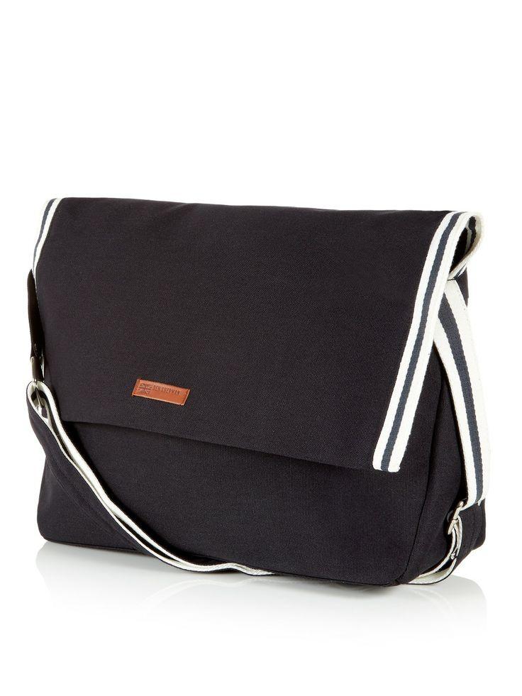 Black Tour Canvas Messenger Bag | Bags | Ben Sherman