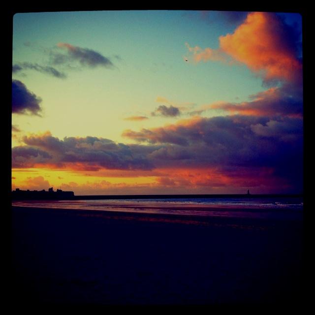 sandhaven beach at dusk