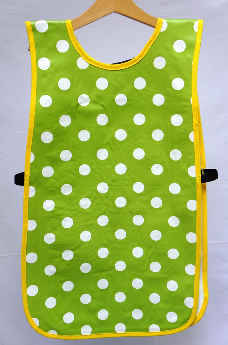 Oil cloth apron, Waterproof apron, Kids apron, Messy play, Toddler apron, sensory play, Polka dot apron, Kitchen apron, Unisex gift by CrafterMama on Etsy