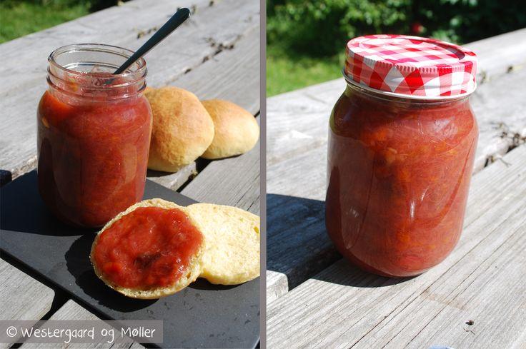 Rabarber/blomme marmelade