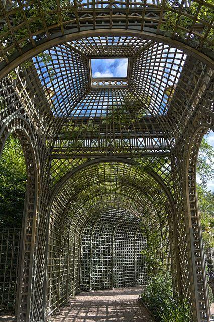 El Bosque del Encélado, en Versalles, París: Geometría férrea.   Matemolivares