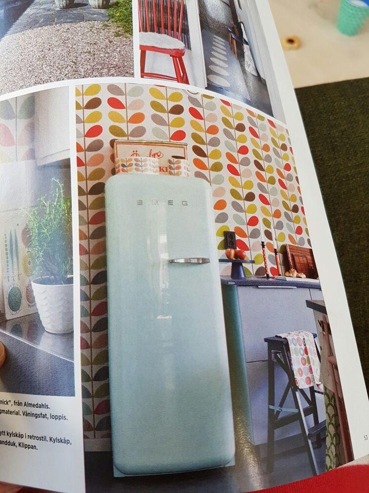 Kylskåp i så fin färg 😊