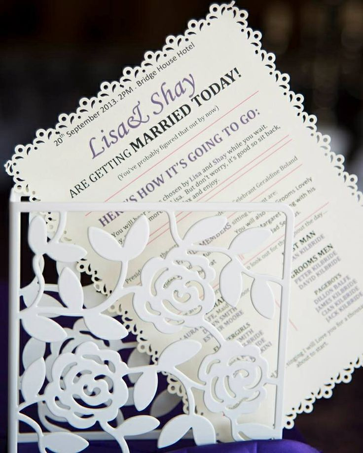 Handmade wedding ceremony pamphlet