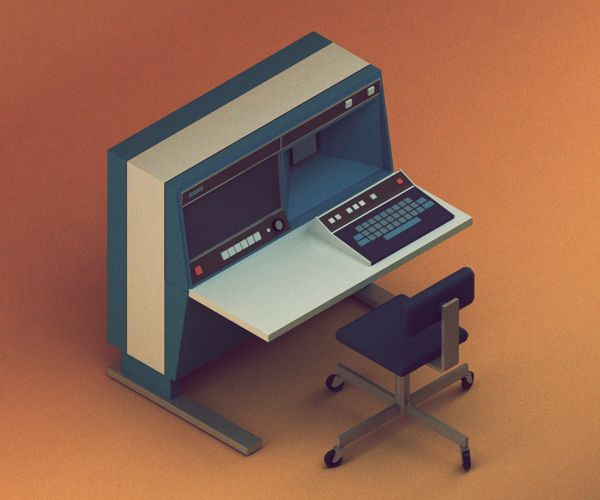 '30 isometric renders in 30 days' Round 1 on Behance