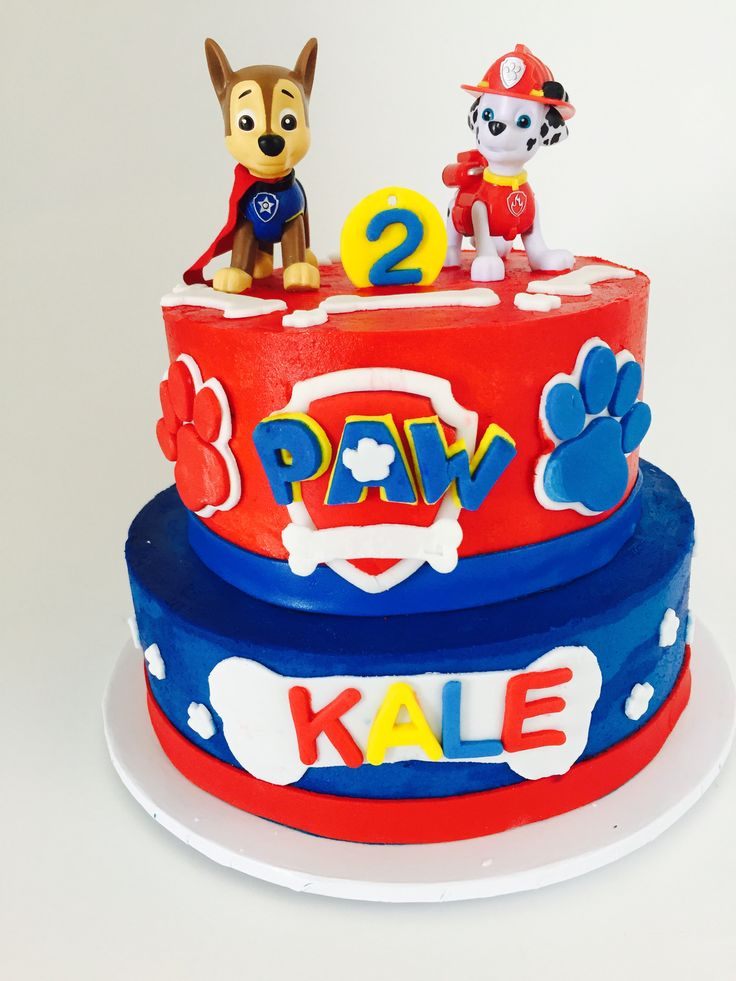 Paw Patrol Cake Added Patrol once I dropped off at the party.