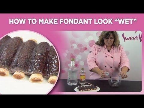 """How to make fondant look """"wet"""" by www.sweetwise.com - YouTube"""