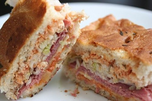 The Focaccia Reuben Sandwich