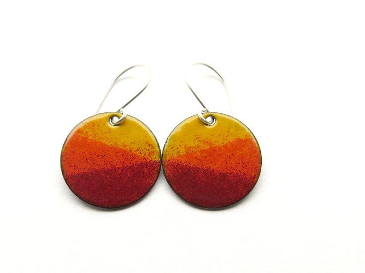 Emaille Ohrringe – orange und rot von happyment auf DaWanda.com 22